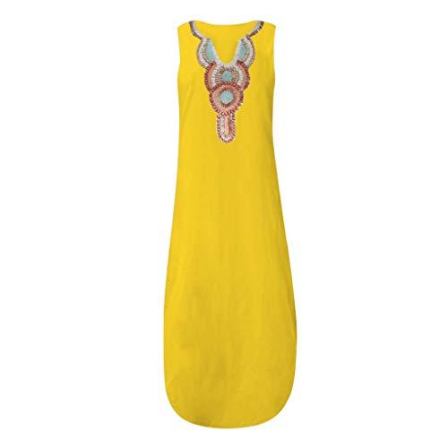 er Frauen im nationalen Stil ärmelloses europäisches und amerikanisches Kleid für Damen ()