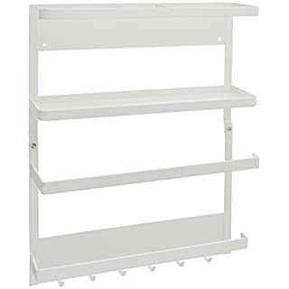 YAMAZAKI home Magnetic Kitchen Organization Rack, White