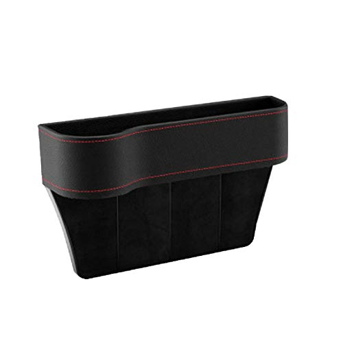 GreatFun 1PCS Car Seat Gap Filler Storage Box - Cup Holder Organizer Coin Console Mobile Phone Holder Coin Collector (Left/Black) (Cup Holder Car Organizer)