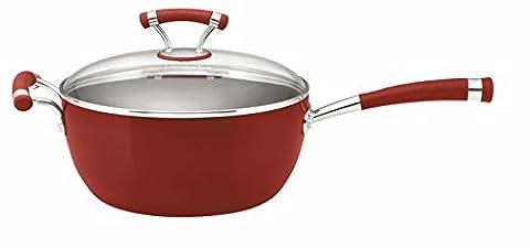 Circulon Chakall Hard Anodised 26 cm Chef's Saucepan with Glass