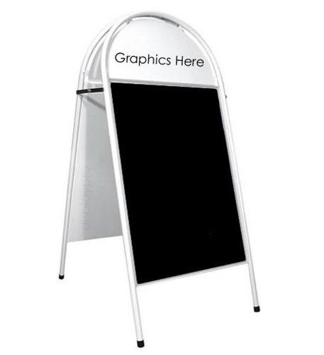 A1 White Booster CFE firman con tiza expositor al aire libre paneles Caf ' A-board - envío gratuito!