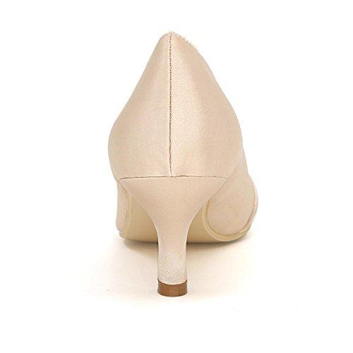 L@YC Tacchi alti delle donne comode scarpe da sposa Fine con il colore di nozze in raso color Multi-Color Code Purple