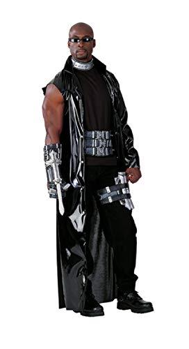 R15937-48-52 Silber-schwarz Herren Slayers Action Blade Halloweenkostüm Gr.48-52 (Blade Vampir Kostüm)