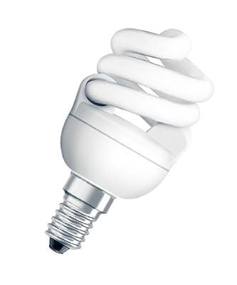 Osram 949004 Dulux Superstar Micro Twist 11 W/825, entspricht 55 Watt, Sockel E14 Energiesparlampen in Spiralform, warmweiß von Osram bei Lampenhans.de