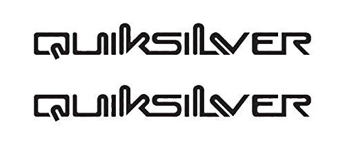 2x Quiksilver Logo Aufkleber für Auto,Scheibe, Lack,Wand,Wandtattoo aus Hochleistungsfolie für alle glatten Flächen von myrockshirt® Autoaufkleber Tuning Decal Sticker -
