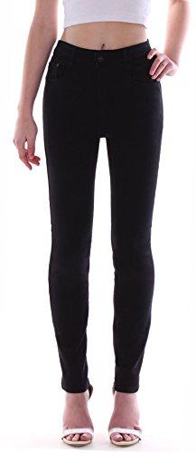 Damen Hochschnitt Jeans Hose Stretch High Waist Röhrenjeans schwarz Übergrößen 36 bis 50 Damenjeans Damenhose Jeanshose Stretchjeans Stretchhose Hochbund Röhre Over Size Plus Big Gr Größe 46 (Plus Hosen-jeans Größe)