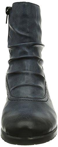 Rieker Y0080-15, Stivali altezza metà polpaccio Donna Blu (Blau (ozean / 15))