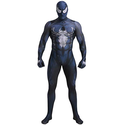 Jungen Superheld Venom Kostüme Kinder Venom Spinne Overall Body Halloween Cosplay Kostüme Thema Party Spiderman Super Skin,Kids,M