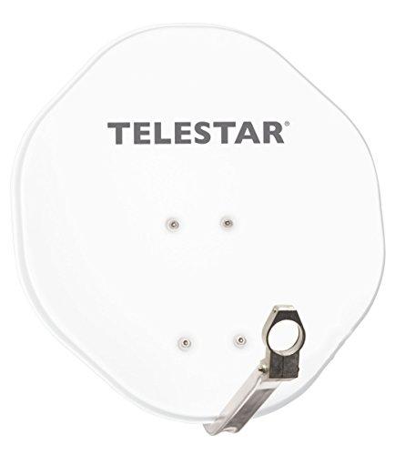 Telestar 5109450-AW Satellitenschüssel (Aluminium-Spiegel, 45 cm, Alurapid/40mm LNB-Halterung) weiß