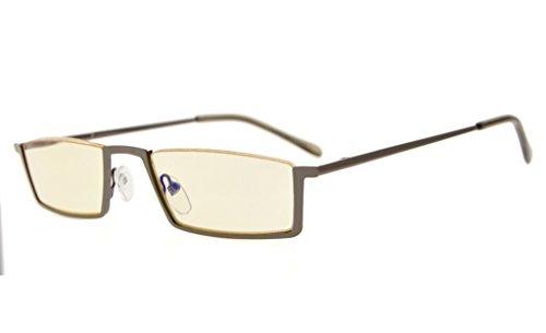 Eyekepper Qualität Spring Scharniere Half-Rim Computer Leser Brillen (Gelbe Linse, 0.00)
