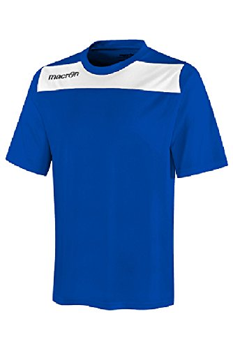 T-Shirt Sportiva Bicolore Maglietta da Calcio Calcetto Macron Andromeda Shirt Azzurro