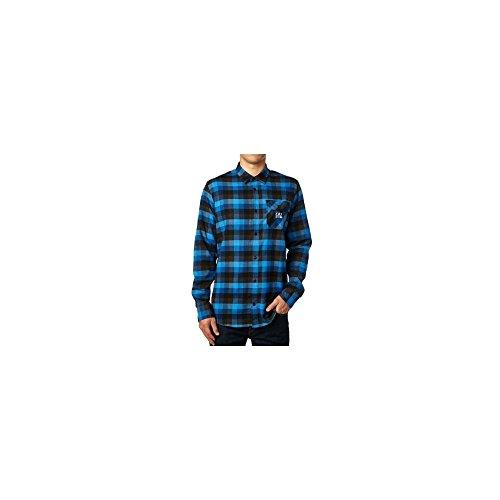 Fox-Flannell-Langarmhemd-Rovar-Dusty-Blue