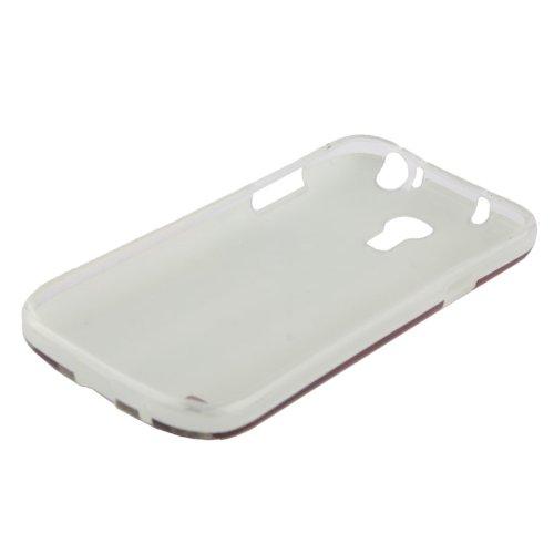 [A4E] Handyhülle passend für Samsung Galaxy S4 mini (i9190) Hülle Schutzhülle aus TPU Silikon mit Traumfänger / Wasserfarben Effekt Motiv (weiß, pink, blau, gelb) USA - Stars and Stripes