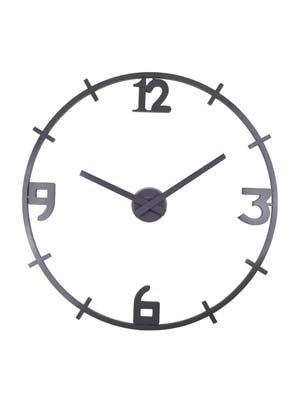 Nextime - 2956ZW - Pendule Murale - Plastique - Noir - 'Louis' - Diamètre: 80 cm