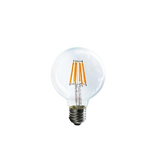 Mengjay® 8W G80 LED E27 filamento retrò 650LM bianco caldo 2200-2300K, vite Edison GLS A19 LED lampadina a incandescenza da 60W Vintage trasparente equivalente 220V AC / 1 PACK