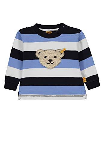 Steiff Baby - Jungen Sweatshirt 1/1 Arm Sweatshirt, per Pack Mehrfarbig (y/d Stripe Multicolored 0001), 62 (Herstellergröße: 62)
