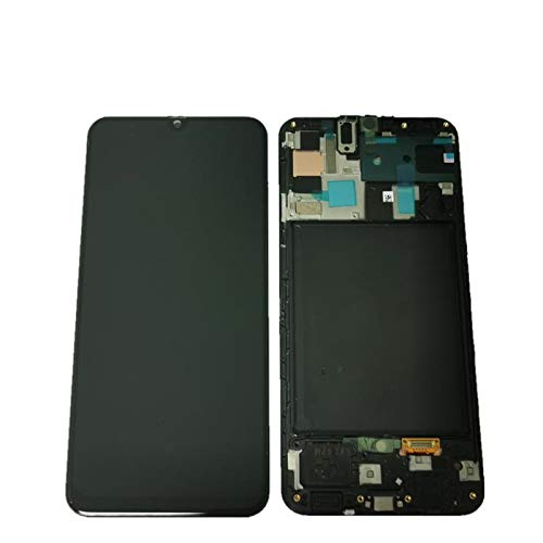 display samsung a50 2019 a505 nero lcd + touch originale con frame gh82-19204a