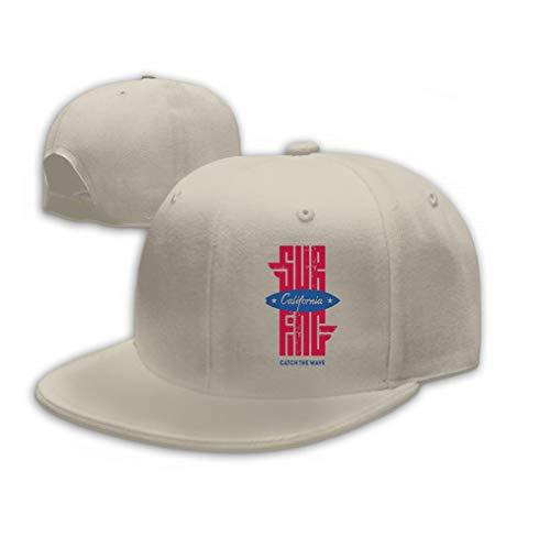 Trucker Hat Unisex Adult Baseball Mesh Cap California Surfing original t Shir Design Print Lett Sand Color -