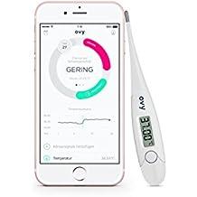 Termometro digitale per controllo giorni fertili OVY | Termometro basale con App gratuita (Apple e Android) | Alternativa a termometro mercurio