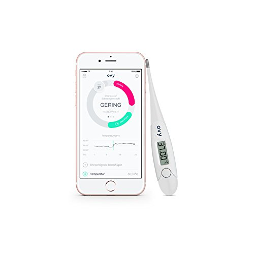OVY - Termometro Digitale per Controllo Giorni Fertili | Termometro Basale con App Gratuita (Apple e Android) | Alternativa a...