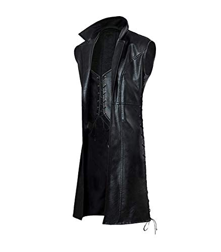 e Genius 2019 Kostüm Devill May Cry 5 (DMC) Echtleder Mantel Kollektionen Gr. XXX-Large, Black Sleevless Dmc Coat