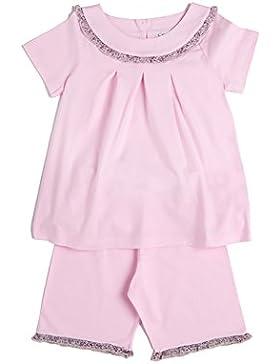 [Sponsorizzato]Mod.37vol rosa, pigiama Siebaneck corto bambina/ragazza ( da 2 a 16 anni ), 100%cotone naturale rosa con volantino...