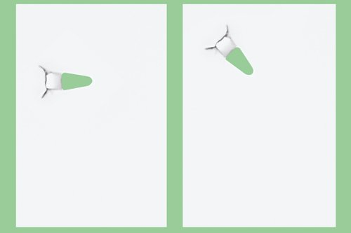 Papiertacker ohne Klammern / Umweltfreundlich Heftgerät/Hefter 4Blatt,Schwarz - 3