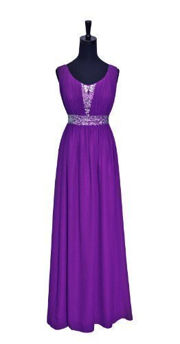 A-line Floor Length Sleevess Beading Chiffon Evening for sale  Delivered anywhere in UK