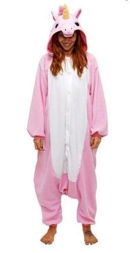 Einhorn Adult Pyjama Cosplay Tier Onesie Body Nachtwäsche Kleid overall Animal Sleepwear Erwachsene (Erwachsene XL Für Hohe 176-185CM, Rosa) (Rosa Einhorn Kostüm)