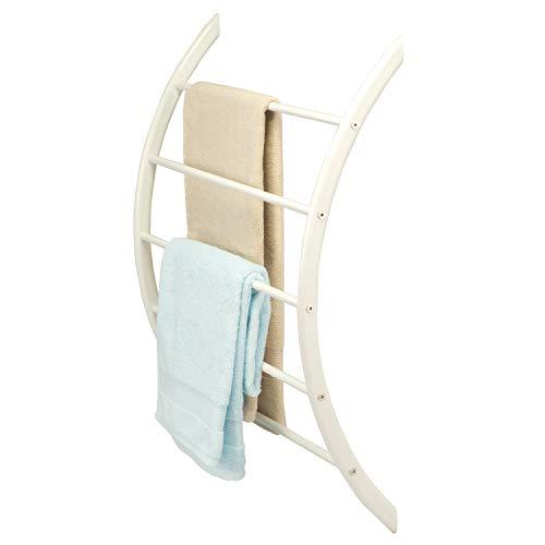 bremermann Handtuchhalter zur Wandmontage mit 5 Stangen aus Metall (weiß)