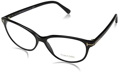 Tom Ford Damen FT5421 001 55 Brillengestelle, Schwarz (NERO LUCIDO),
