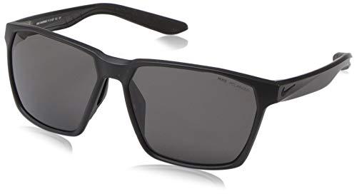 Nike EV1097-001 Maverick P Frame Polarized Grey Lens Sunglasses, Matte Black/Silver