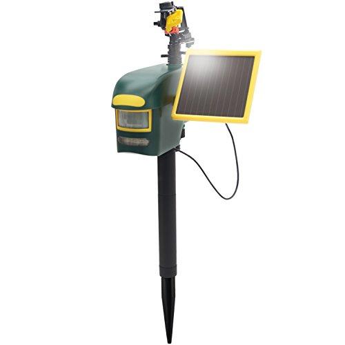 Gardigo Solar Wasserstrahl Tiervertreiber (Reiherschreck, Katzenschreck, Hundeschreck, Taubenschreck) Reichweite bis zu 10m