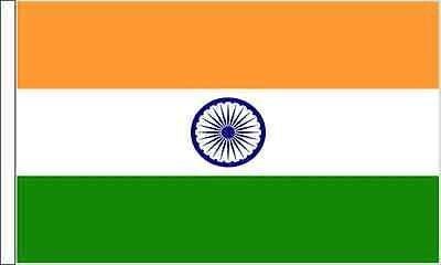 Indien Ärmeln Flagge geeignet für Boote 45cm x 30cm (45,7x 30,5cm) + 59mm Button