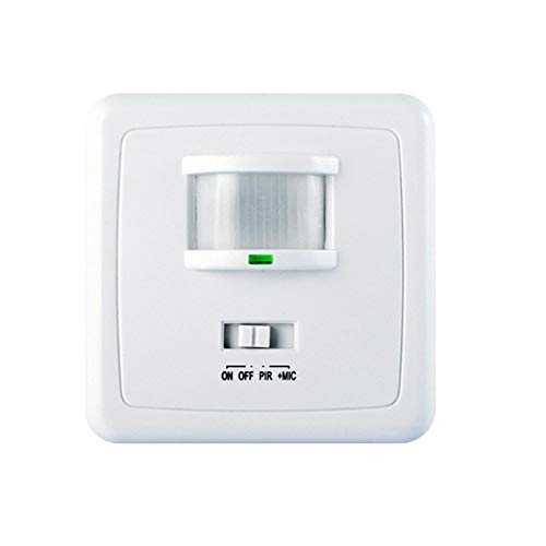 MACLEAN MCE18 Wall PIR Motion Detector Light Switch Security Sensor Voice Sound