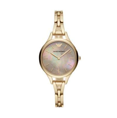 Emporio Armani Ladies' Gold Stainless Steel Wristwatch AR11140