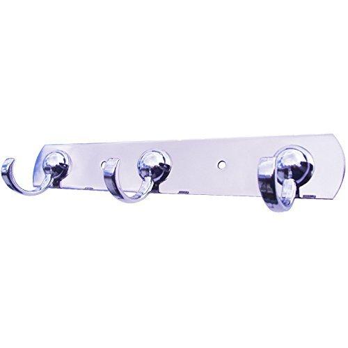 Bene Domo montaggio a parete bagno/cucina/corridoio, triplo fine-Gancio asciugamano/Flanella/chiave/utensili 3ganci Rail COMPUTER