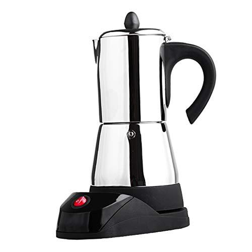 Espressokocher Edelstahl Espressomaschine Espressokanne mit EU-Stecker - 6 Tasse ()