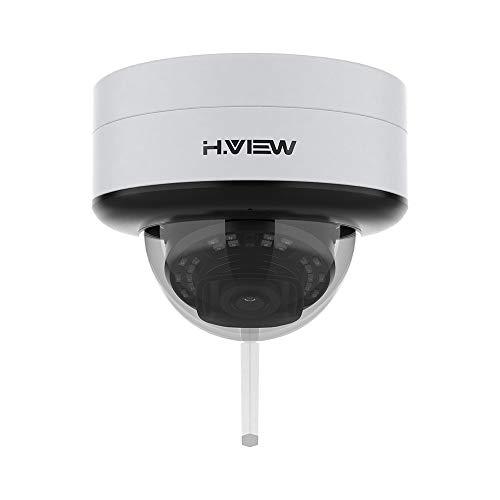 H.VIEW IP Kamera Aussen 5MP WLAN Dome Überwachungskamera 2.4/5GHz IR Wetterfest IP67 Drahtlose WiFi Sicherheitskamera mit Mikrofon SD-Slot(Max 128GB)