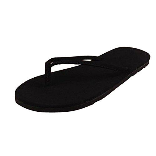 LHWY Damen Summer Flip Flops Schuhe Sandalen Slipper Indoor & Outdoor Flip Flops Schwarz