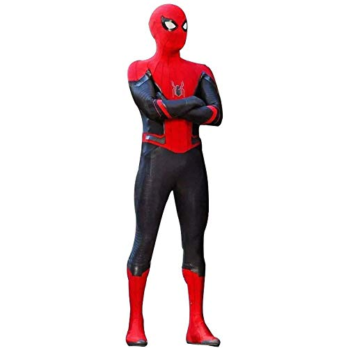 werty Cosplay Kleidung Spiderman Kinderoverall Anime Kostüm Held Expedition Anzug Siamese Christmas Halloween Kostüm L(131~140cm)