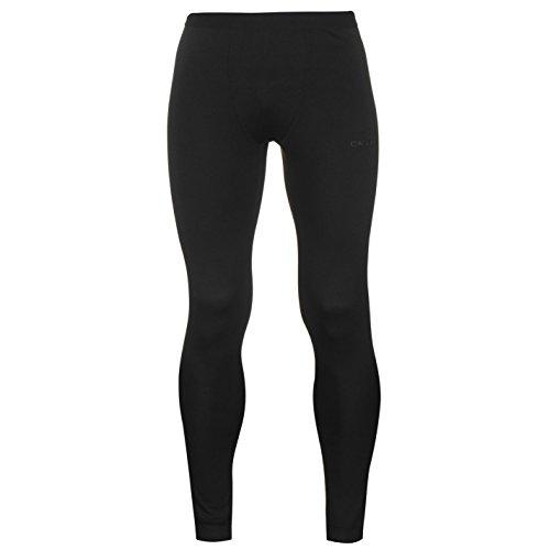 Campri Uomo Termico Collant Outdoor Pantaloni Elasticizzato Allenamento Caldo Nero