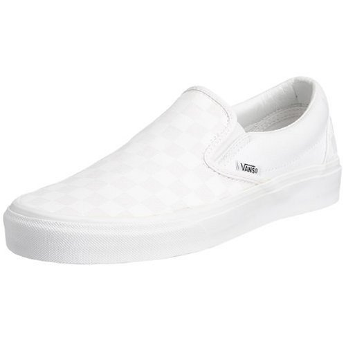 Vans U CLASSIC SLIP-ON, Sneaker Unisex Adulto, Bianco (True White/True White Checkerboard), 41