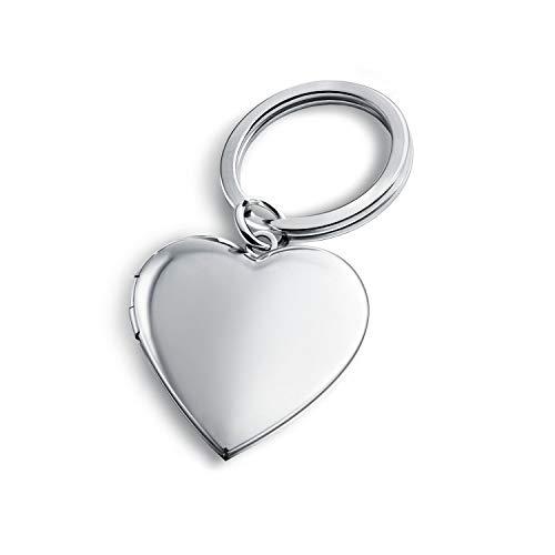 PHOCKSIN Herz-Medaillons Schlüsselanhänger für Frauen Mädchen Erinnerungs-Foto-Medaillon