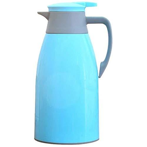 Zihuist 1.9L Haushalt kleine Thermosflasche Neue Wärmflasche Vakuum Mini Liner Kunststoff Thermoskanne kochendes Wasser Flasche Wasserflasche (Color : Deep Sky Blue)