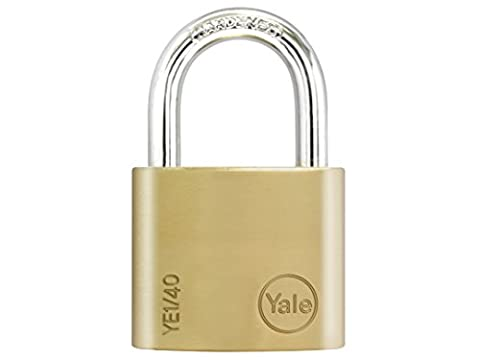 Yale Locks YALYE140 40 mm Brass Padlock