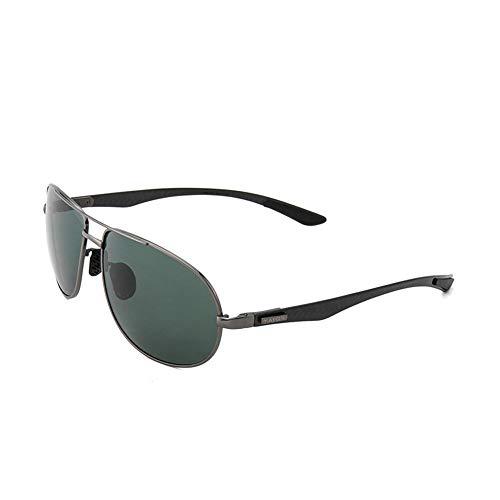 Sonnenbrillen JU DA Carbon Fiber Männer Sonnenbrille Polarisierte Marke Gläser Gun Green Frame Übergroße Frühling Beine Pilot Männliche Sonnenbrille Fahren