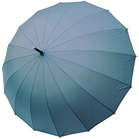 COLLAR AND CUFFS LONDON - Paraguas Clásicos - MUY FUERTE - Antiviento - Automático - Alta Ingeniería Para Luchar Contra El Daño Causado Por Giro - 16 Varillas Para La Fuerza Adicional - Gris -