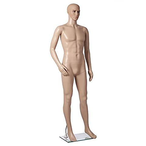Songmics Man Mannequin Window Male Adjustable Dummy Plastic Detachable Structure MPGM19