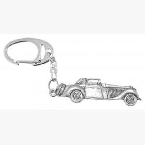 Oldtimer Zinn Schlüsselanhänger in graviert Geschenkpackung, Schön Geschenkidee